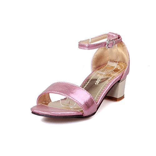 1TO9 Womens Heeled-Sandals Assorted?Color Chunky Heels Urethane Heeled Sandals MJS02519 Pink PPsuhO