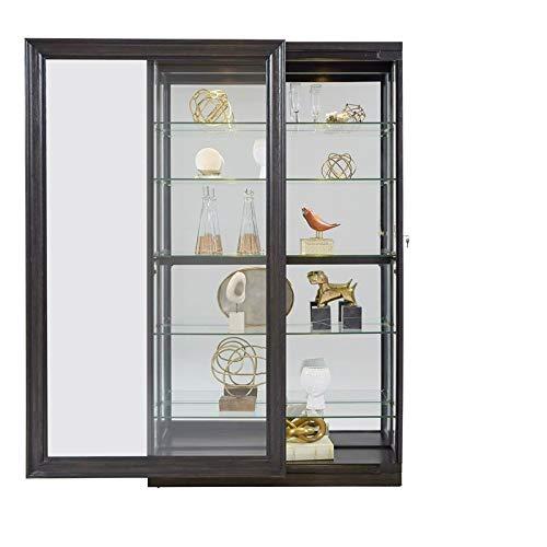 Pulaski P021553 Rockford Mirrored Two Way Sliding Door Curio Cabinet 45.9'' x 14.8'' x 80.0'' by Pulaski (Image #6)