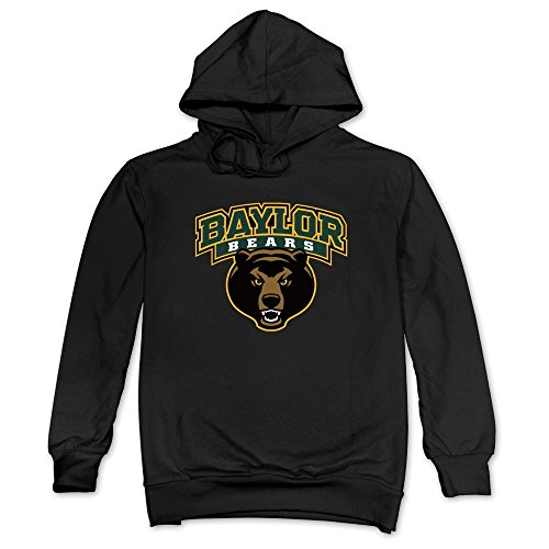 Mens Baylor Bears Hoodies Black 100% Cotton