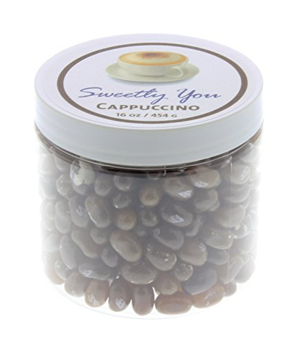 Jelly Belly 1 LB Capuccino Flavored Beans. (One Pound, 1 Pound) Bulk Jelly Beans in a resealable and reusable jar. (Gourmet Jelly Bean Jar)