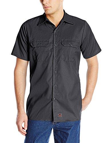 Red Kap Men's Utility Uniform Shirt, Charcoal, Short Sleeve 3X-Large