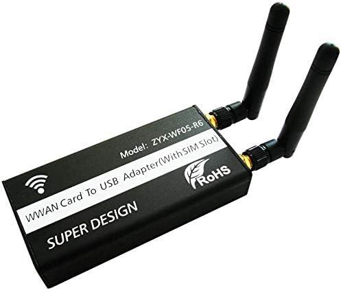 Mini PCI-E a USB adaptador con ranura para tarjeta SIM WWAN/LTE memoria