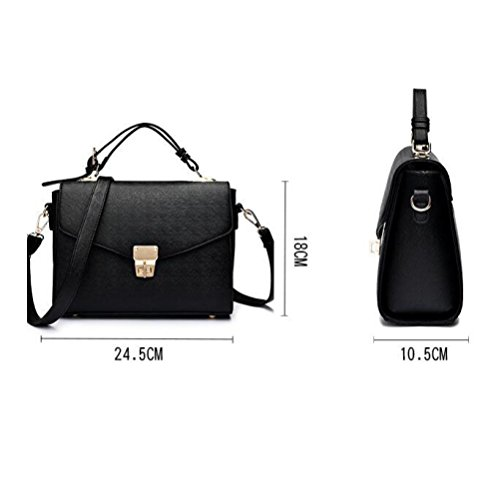 Womens à Sac Sac Fashion Crossbody à Petit Main Carré Black PU Bandoulière BAILIANG Sac aq0xFCdd