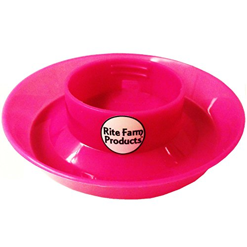 PINK-RITE-FARM-PRODUCTS-WATERER-BASE-FOR-POLYGLASS-QUART-JAR-POULTRY-CHICKEN-DRINKER