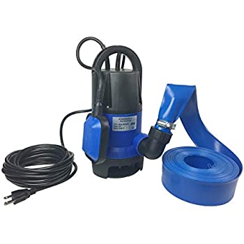 Hot Tub and Pool Submersible, Portable, Drain Water Pump