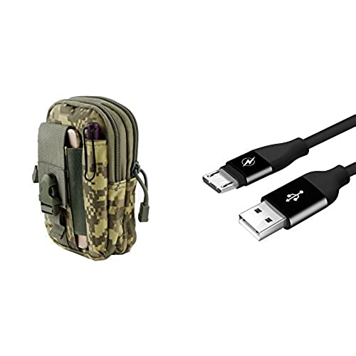 outlet LG X Charge - Bundle: Tactical EDC MOLLE Utility Waist Pack Holder Pouch (ACU Camo), Durable [5000+ Bends Lifespan] Micro USB Data Sync Charger Cable, Atom Cloth