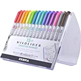 Zebra Pen Mildliner, Double Ended Highlighter, Broad and Fine Tips, Assorted Colors, 15 Pack