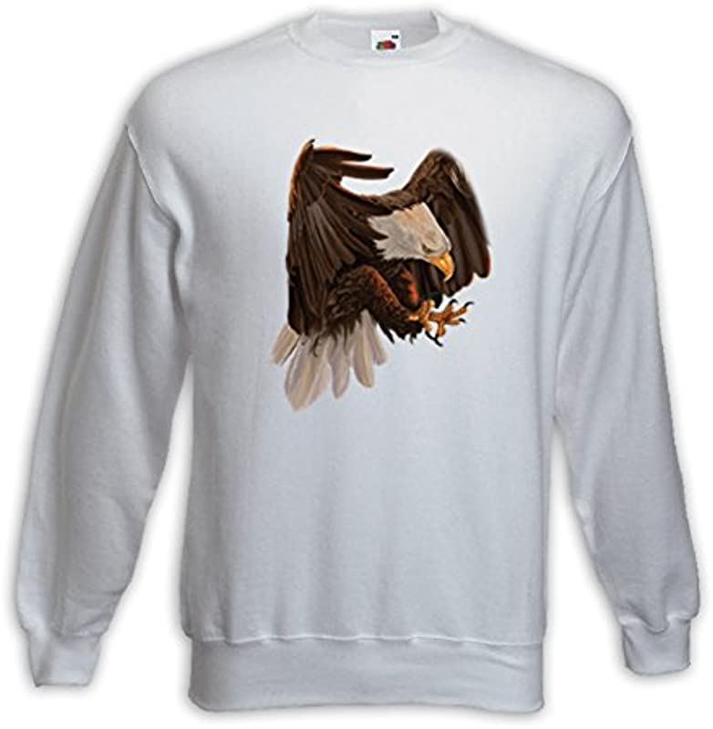 Animal swetry American Eagle Biały Biały głowa orła Biker motyw zwierzęcy: Odzież