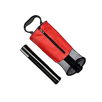lzndeal Golf Ball Retriever,Pick Up Shag Bag,Zipper,Practice Tool,Golf Ball Retriever Zipper Pick Up Shag Bag Holder Practice Collector