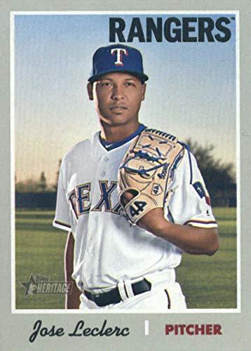 - 2019 Topps Heritage #290 Jose Leclerc Texas Rangers Baseball Card