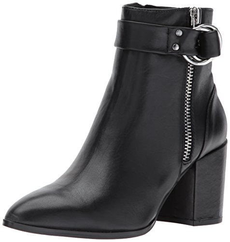 Black Leather Ankle Women's Madden Steve Bootie Steven Johannah by xKRp6Rn0wq