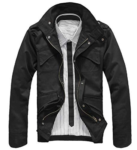 Jacket Pockets Rain Insulated Combat Men's Multi Quilted Energy Black TzqZI0wx