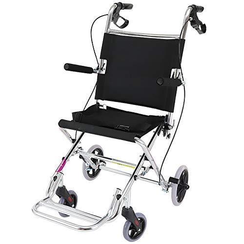 ワイドタイプの簡易車椅子 『 快飛ee!(カットビー)』 シルバー 重量約7.2kg 超軽量 コンパクト 介助用車いす 旅行やお買い物やレジャーでのご使用にも!E101-SL   B07BZ8TW3S