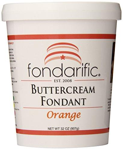 Fondarific Buttercream Orange Fondant, (Orange Cream Filling)