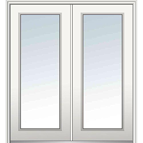 National Door Z029483L  Primed Left Hand In-swing, Prehung Front Door, Full Lite, 72'' x 80'', Steel by National Door Company