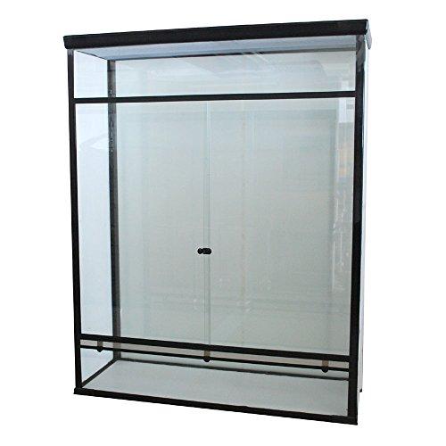 Glasterrarium 120x45x150cm mit Schiebetüren inkl. Verriegelung