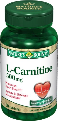 Nature Bounty L-Carnitine 500 mg, 30 comprimés (Pack de 2)