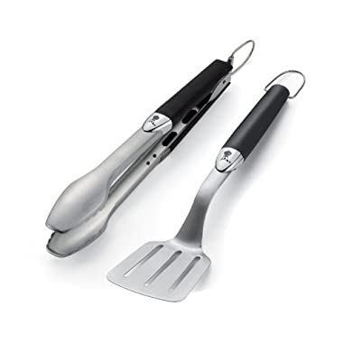 Weber 6645 Original Portable 2-Piece Stainless Steel Tool Set