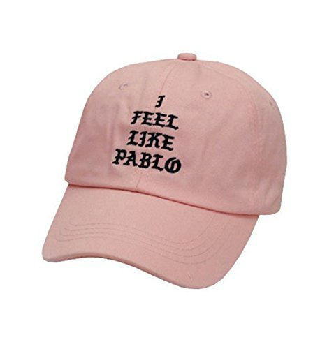 Dad Hats, I Feel Like Pablo Hat Cap in Baseball Caps The Life of Pablo-Pink -