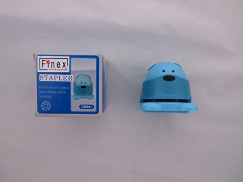 FINEX Teddy Bear Staple Free Stapler Eco Friendly Stapleless Staples Paper Staplers Safe and Save Earth (Set of 2 colors (Random)) by Finex (Image #2)