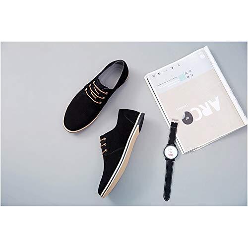 Uomo NXY Oxford Lavoro Pelle Nero Casuale Francesine Appartamenti Allacciare Scarpe Formale Scarpe da 4ZqdZTrwx