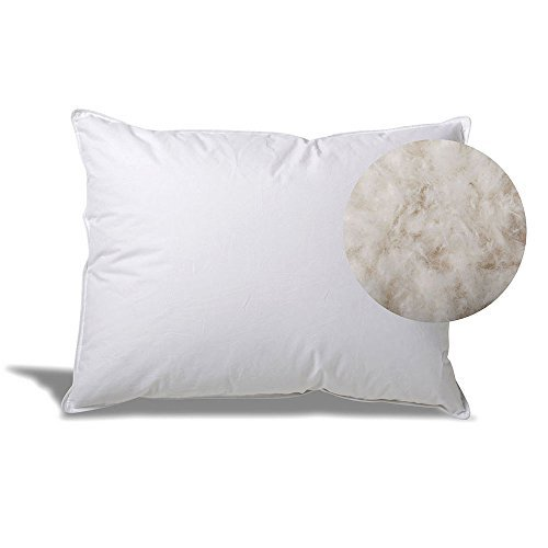 eLuxurySupply Extra Soft Down Filled Pillow for Stomach Sleepers w/Cotton Casing - Filled and Finished in The USA, Queen