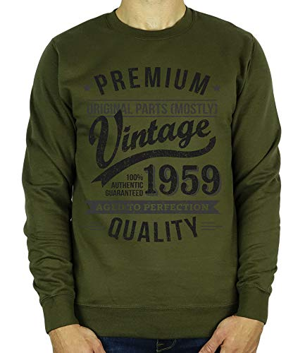 Cadeau 1959 60 Anniversaire Perfection Sweatshirt Verte Ans Olive Year Vintage Aged To Homme rr1YH