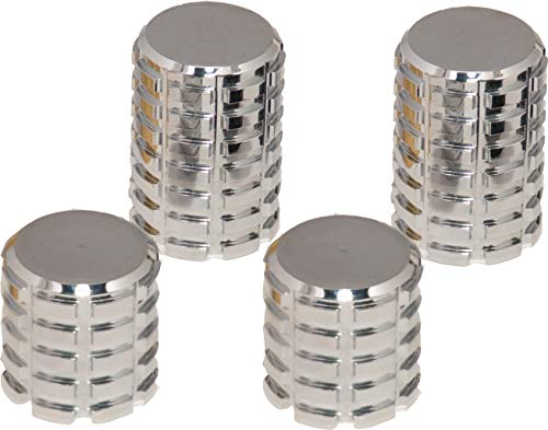 RAXX Set of 4 Billet Docking Station Cap/Cover Square-Cut Chrome by Pro Pad Inc