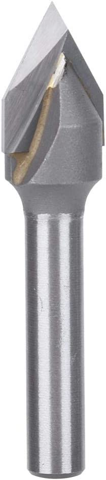 V-Groove 60-Degree Router Bit 0.2 Inch Shank 1//2-Inch Diameter Woodworking Tool #1