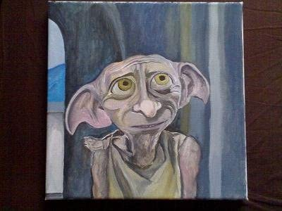 Original Artwork Canvas Tote Bag Dobby Harry Potter Series