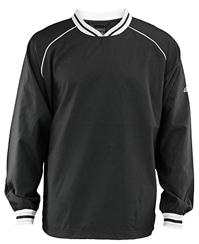 Adidas Mens Pullover Microfiber Hot Jacket, Black