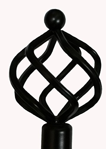 Fancy Collection Rod Décor - NEW Decorative Curtain Rod All Sizes Window Rods (Black, 28'-48')