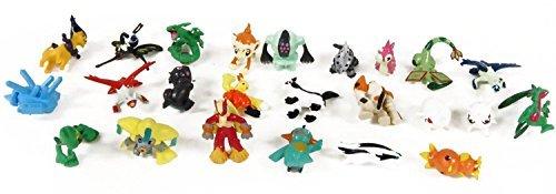 "Pokemon Set of 24 pieces - 1"" Inch Mini Action Figure Set by Pokémon (PKX) NEW"
