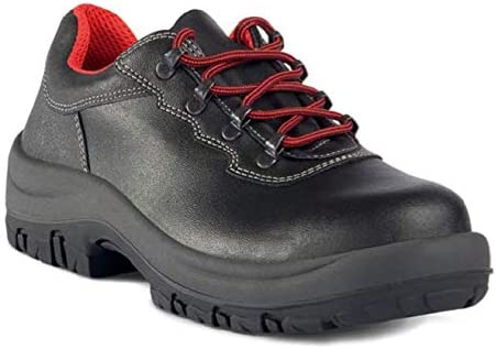 FTG Safety Shoes, Ercole, Black Smooth