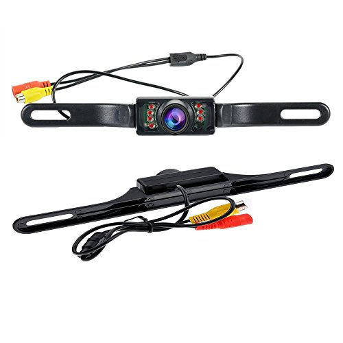 Camecho Vehicle Backup Camera License Plate Rear Camera For 12 V Universal Cars