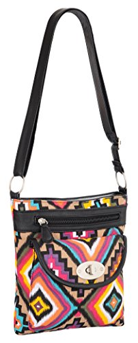 Canvas Cross Shoulder Floral Body Bright EyeCatchBags Florida Bag Aztec nqIAOO