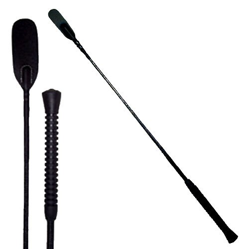 Intrepid International Horse Riding Crop with Rubber Handle, 28