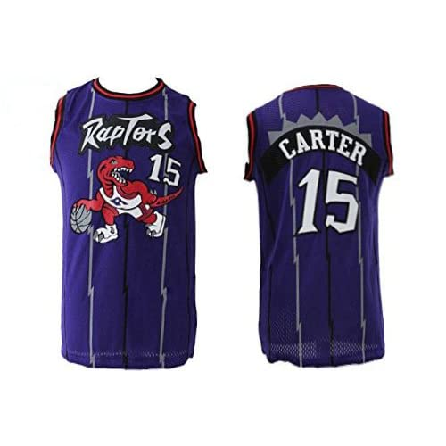 newest 8d95e 9a66f Youth Toronto Carter Jersey #15 Throwback Vince Basketball ...