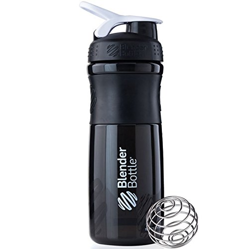 Blender Bottle Sport Mixer Protein Shaker Cup 28 oz BlenderBottle Sport - Black/ White (Blender Bottle Sport Mixer Aqua compare prices)