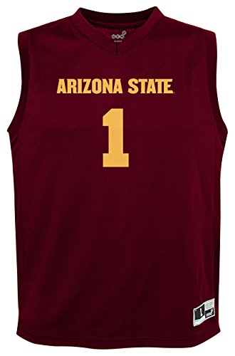 Devils Ncaa Basketball - NCAA by Outerstuff NCAA Arizona State Sun Devils Youth boys Chase Basketball Jersey, Maroon, Youth Medium(10-12)