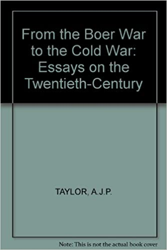 English Essay Speech From The Boer War To The Cold War Essays On The Twentiethcentury Ajp  Taylor Amazoncom Books Health Awareness Essay also A Modest Proposal Essay From The Boer War To The Cold War Essays On The Twentiethcentury  Advanced English Essay