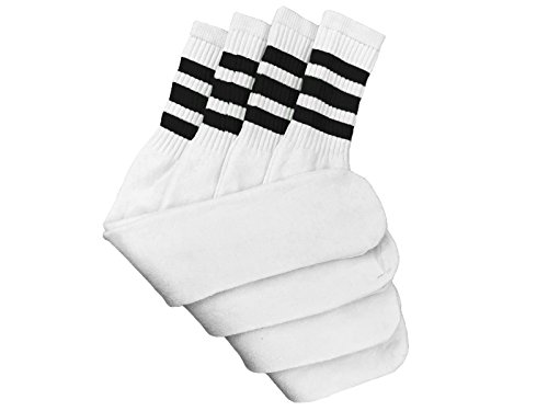 Tube Socks Assorted Stripe Colors 24