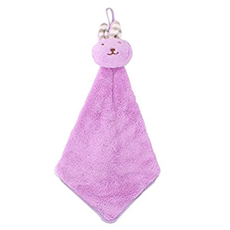 DealMux Baño Cocina colgar de la pared en forma de conejo mano suave toalla seca paño de púrpura: Amazon.es: Hogar