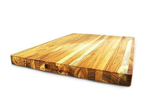 Terra Teak Cutting Board - Extra Large Wood Board 24 x 18 x 1.5 Inch by Thirteen Chefs (Image #2)