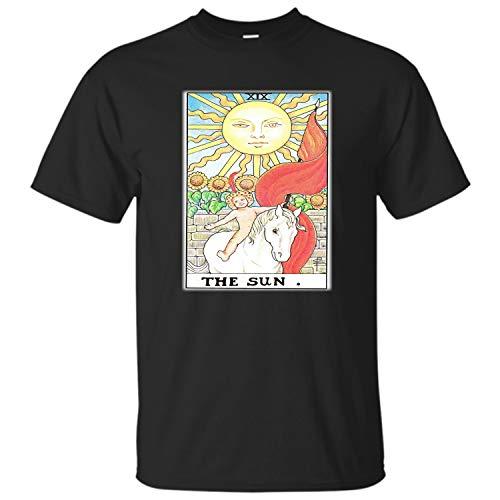 - Distressed Tarot Card The Sun-XIX t Shirt-Trump Card Tank-Major Arcana Tarot-Deck (Black - XL)
