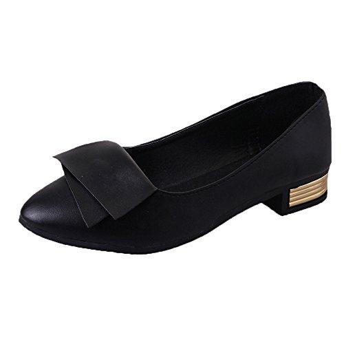 Sintético Sólido Sandalias Moda Con Punta Suela Zapatos Fiesta Blanda Zapatillas Verano Casual Para Tacón Kitten Mujer Negro Paolian Noche Heels Vestir Y Cuero De 2018 f1dqwf78x