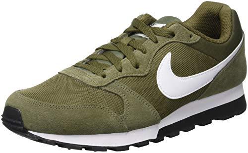 2 Running 204 Nike MD para de Olive White Verde Zapatillas Hombre Runner Medium black XqSn6wE