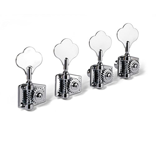 Golden Age Adjustable Tension Bass Tuners, 4-in-line Set, Chrome