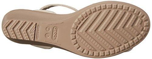 Crocs Dames Leigh Wedge Sandaal Havermout / Champignon