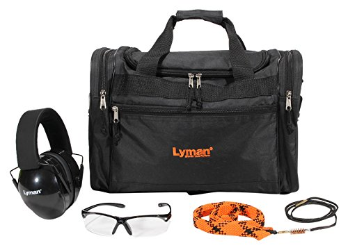 Kit Shooters (Lyman Shooters Essential Range Kit with Bore Snake, Ear, and Eye Protection)